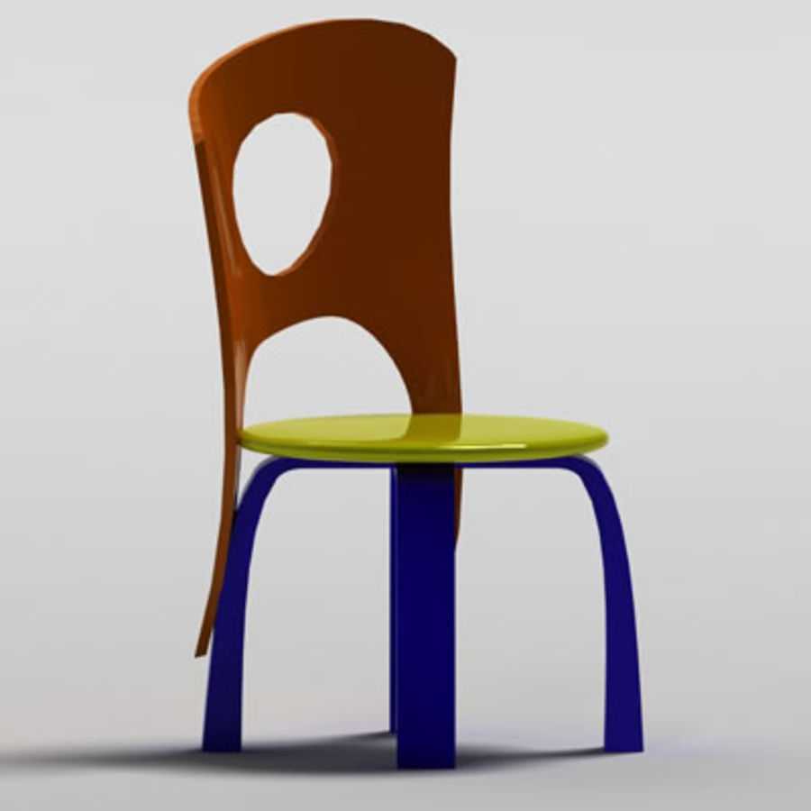 Cartoon Chair royalty-free 3d model - Preview no. 3