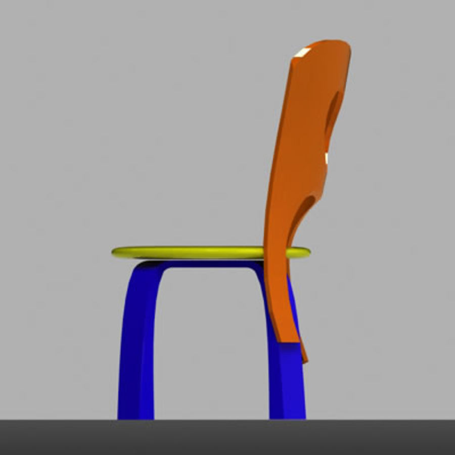 Cartoon Chair royalty-free 3d model - Preview no. 9
