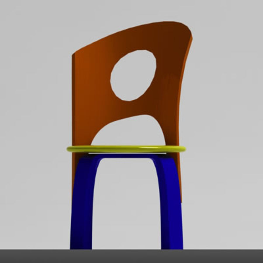 Cartoon Chair royalty-free 3d model - Preview no. 8