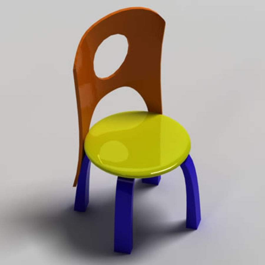 Cartoon Chair royalty-free 3d model - Preview no. 4