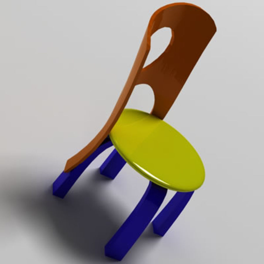 Cartoon Chair royalty-free 3d model - Preview no. 5
