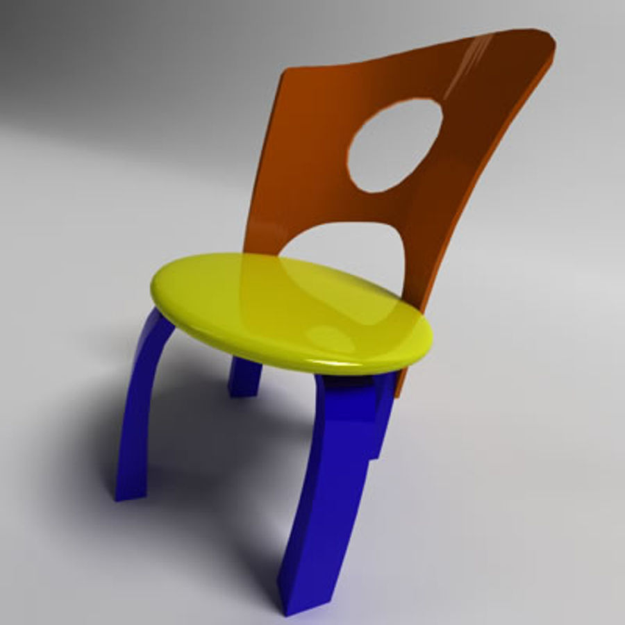 Cartoon Chair royalty-free 3d model - Preview no. 6