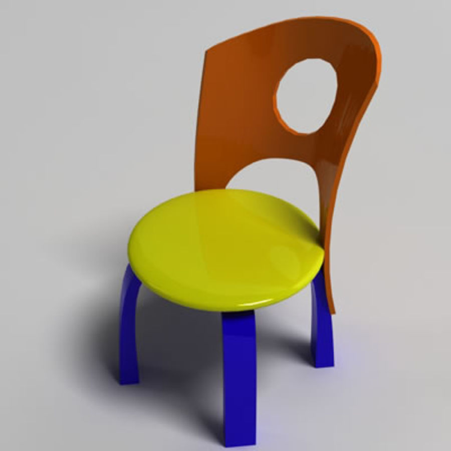 Cartoon Chair royalty-free 3d model - Preview no. 2