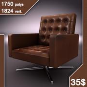 vieux fauteuil en cuir 3d model