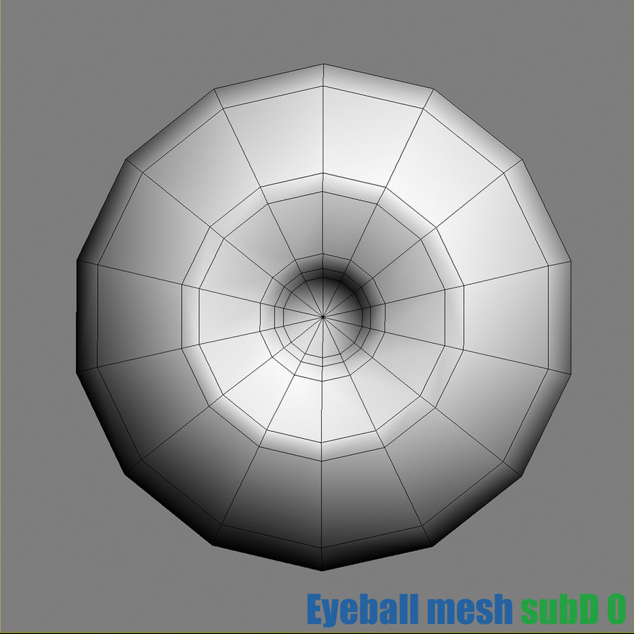 Menschliches Auge royalty-free 3d model - Preview no. 6
