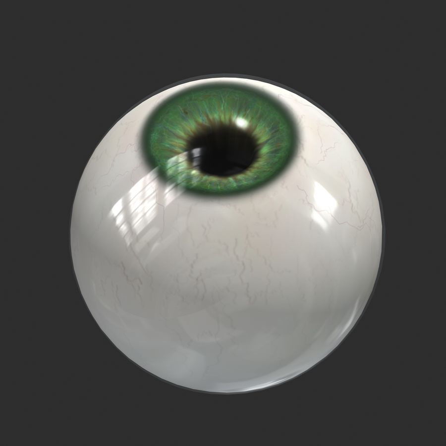 Œil humain royalty-free 3d model - Preview no. 5