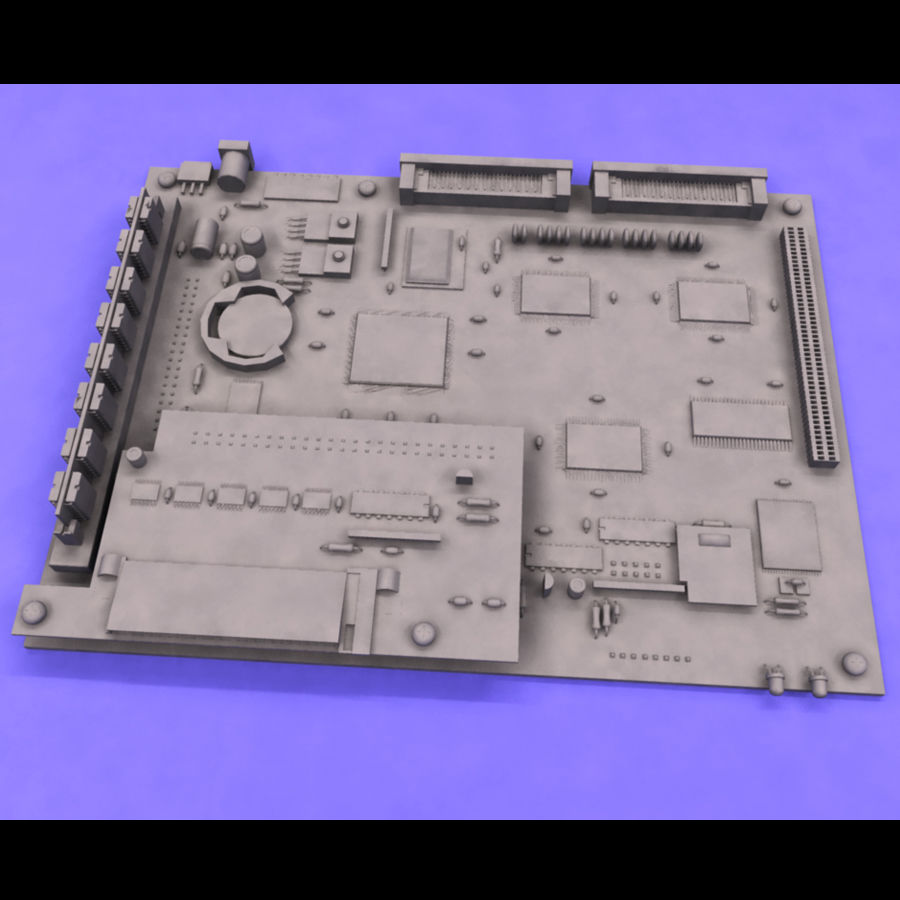 Electronic Circuit Board royalty-free 3d model - Preview no. 5