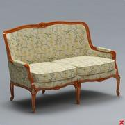 Sofa old fashioned019 3d model