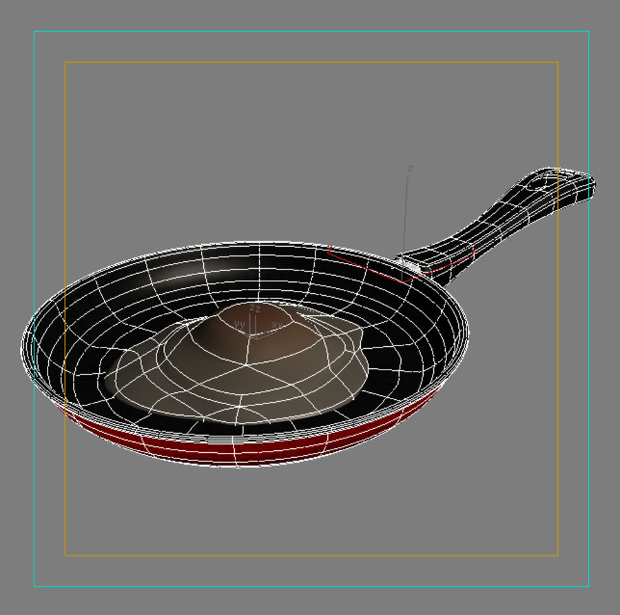 fried egg royalty-free 3d model - Preview no. 9