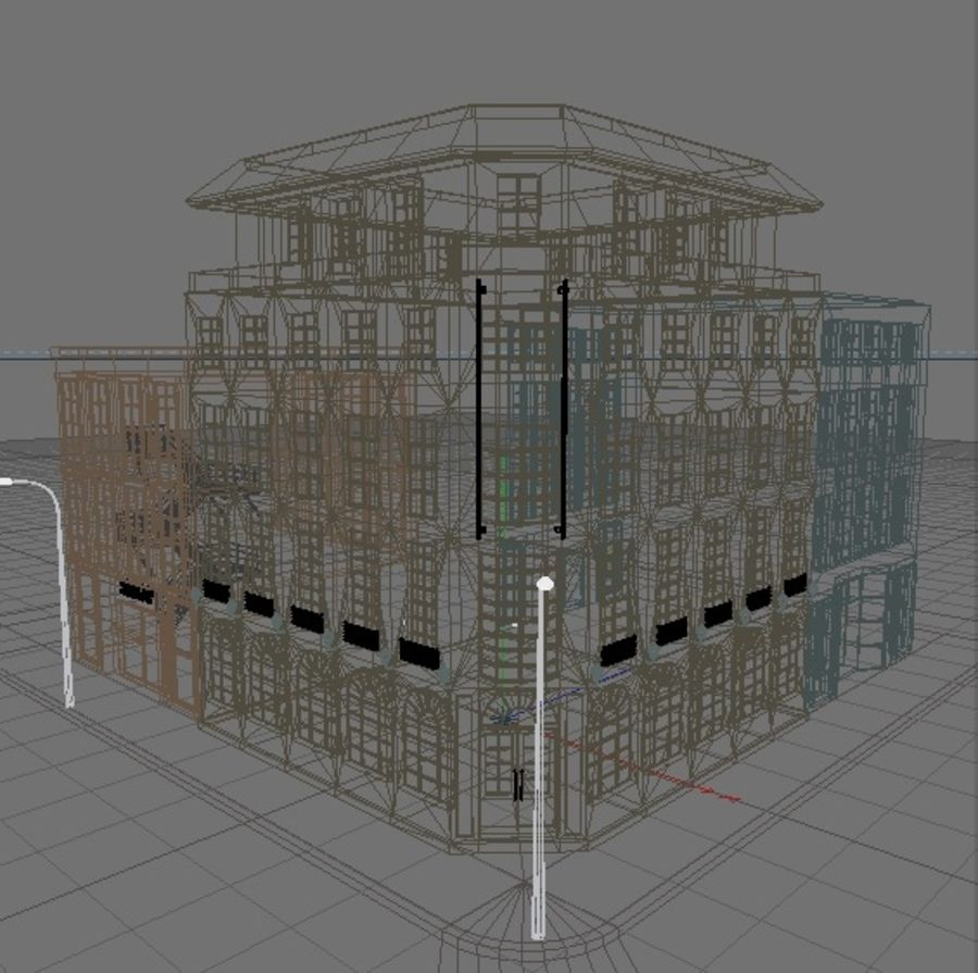 die Architektur royalty-free 3d model - Preview no. 9