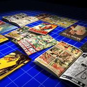 Comics, Magazines and Books 01 3d model