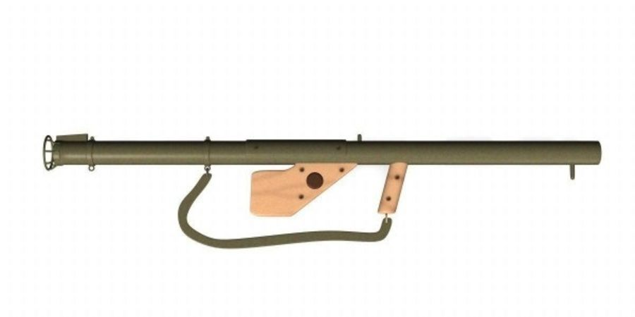 M1 Bazooka royalty-free 3d model - Preview no. 2