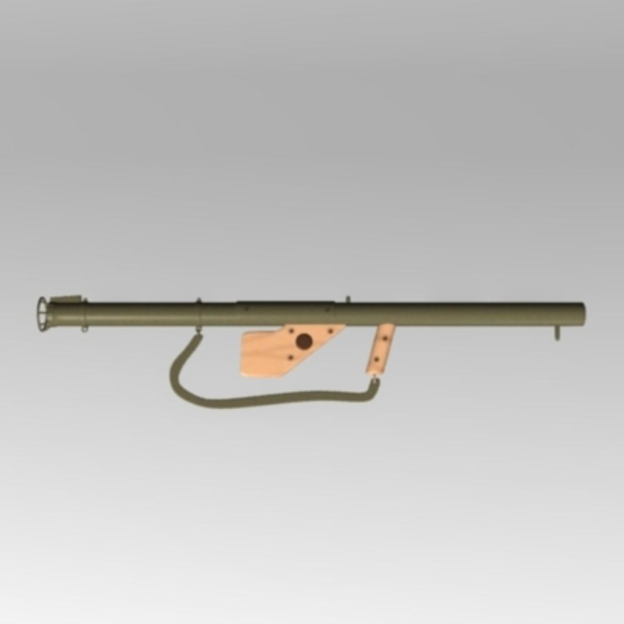 M1 Bazooka royalty-free 3d model - Preview no. 1