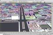 Ciudad de escena lowpoly modelo 3d