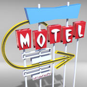 Motel Sign 3d model