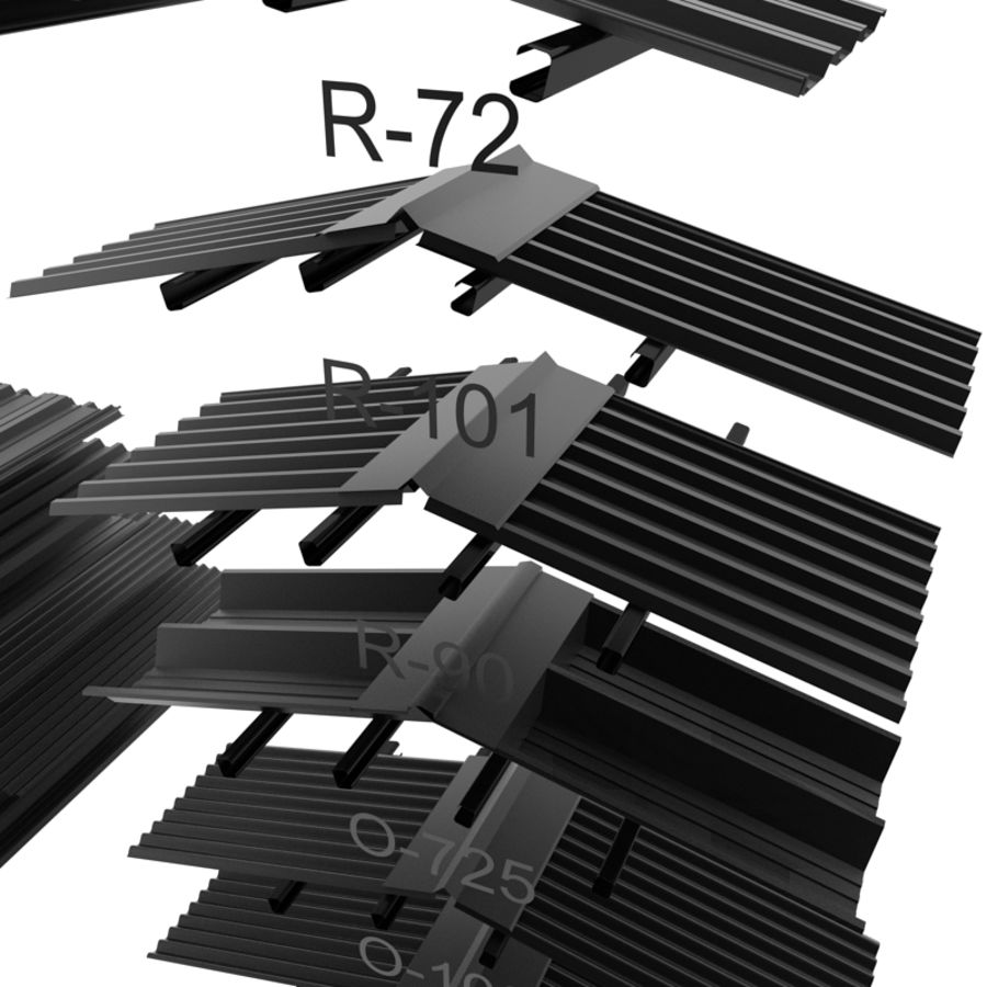 metal roof collection royalty-free 3d model - Preview no. 7
