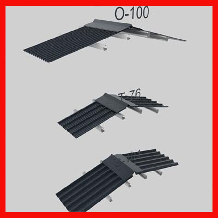metal roof collection royalty-free 3d model - Preview no. 4
