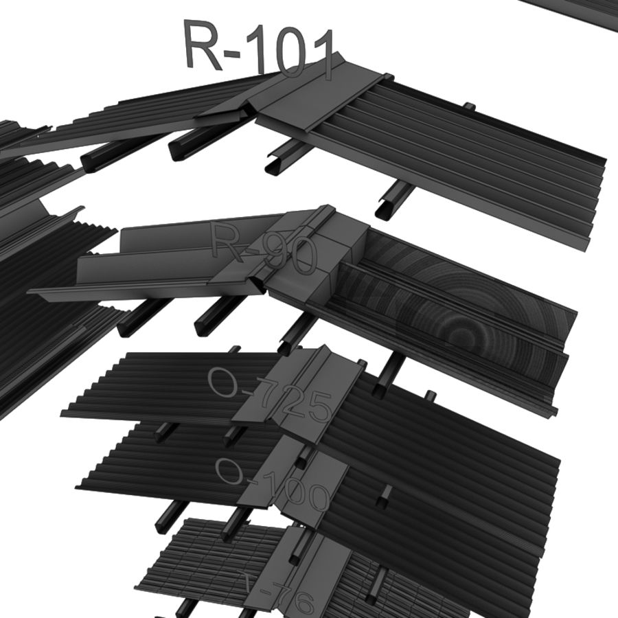 metal roof collection royalty-free 3d model - Preview no. 18