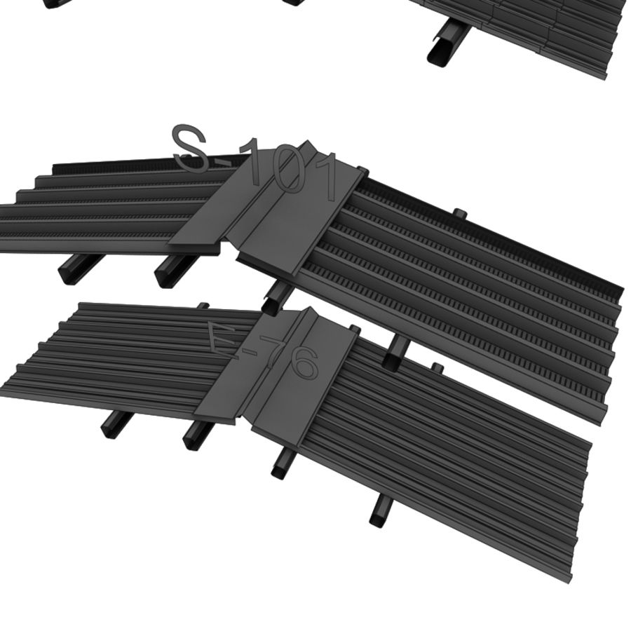 metal roof collection royalty-free 3d model - Preview no. 22