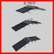 metal roof collection 3d model
