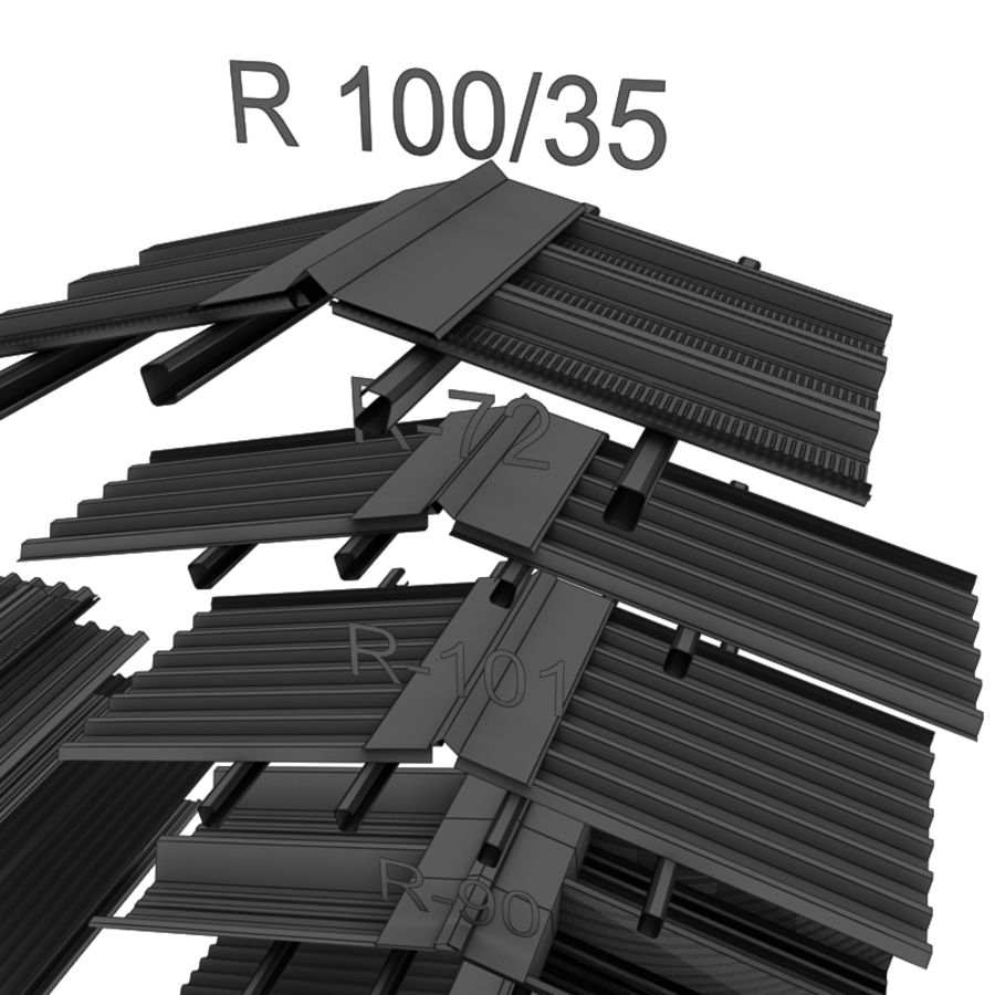metal roof collection royalty-free 3d model - Preview no. 16