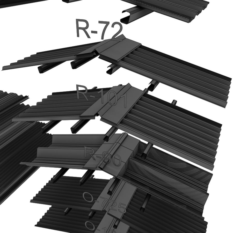 metal roof collection royalty-free 3d model - Preview no. 17