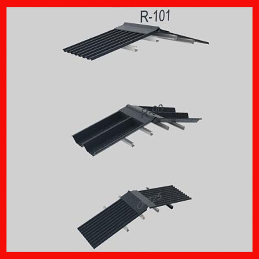 metal roof collection royalty-free 3d model - Preview no. 3