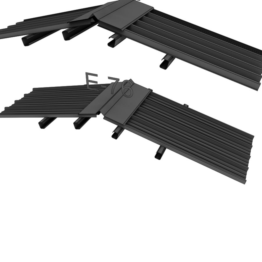 metal roof collection royalty-free 3d model - Preview no. 23