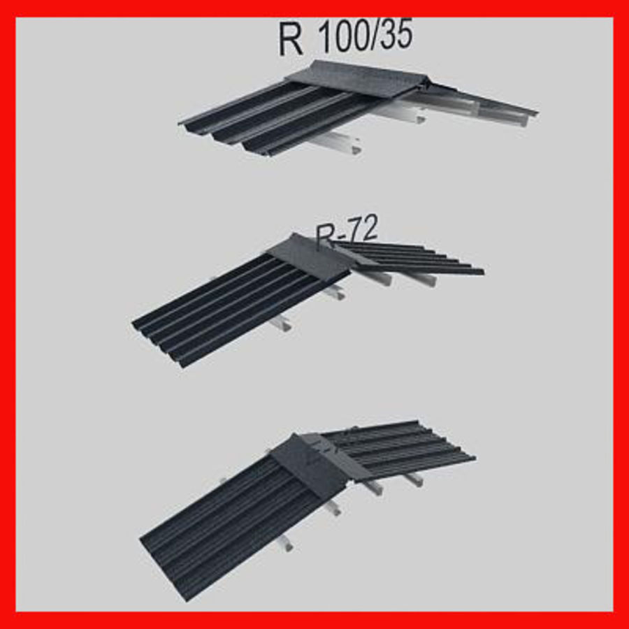 metal roof collection royalty-free 3d model - Preview no. 2