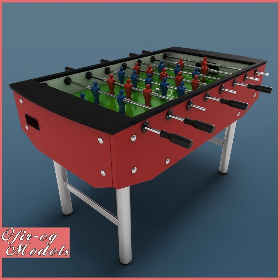 Настольный футбол royalty-free 3d model - Preview no. 1