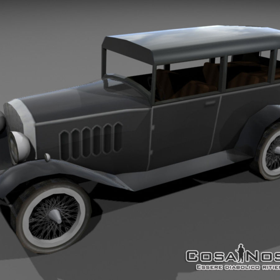 Cunningham Oldtimer 1929 royalty-free 3d model - Preview no. 1