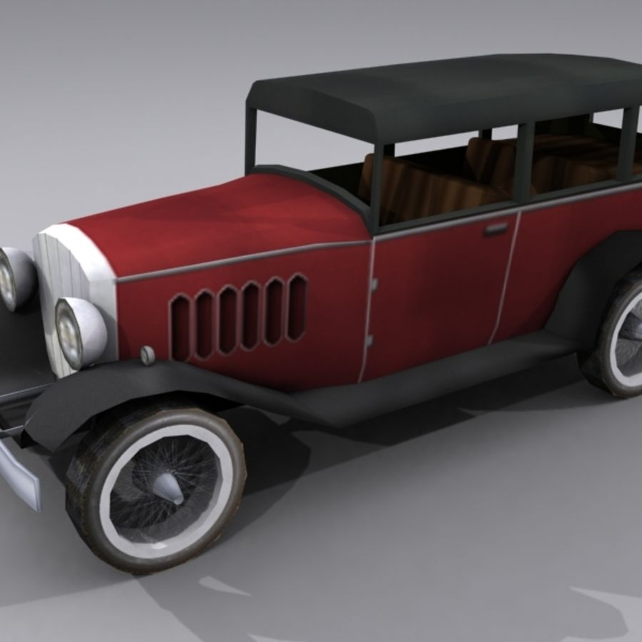 Cunningham Oldtimer 1929 royalty-free 3d model - Preview no. 3