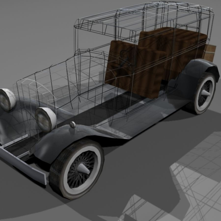 Cunningham Oldtimer 1929 royalty-free 3d model - Preview no. 4