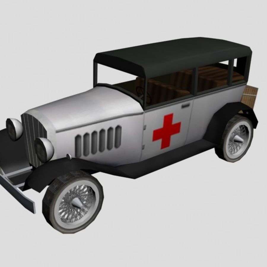 Cunningham Oldtimer 1929 royalty-free 3d model - Preview no. 5