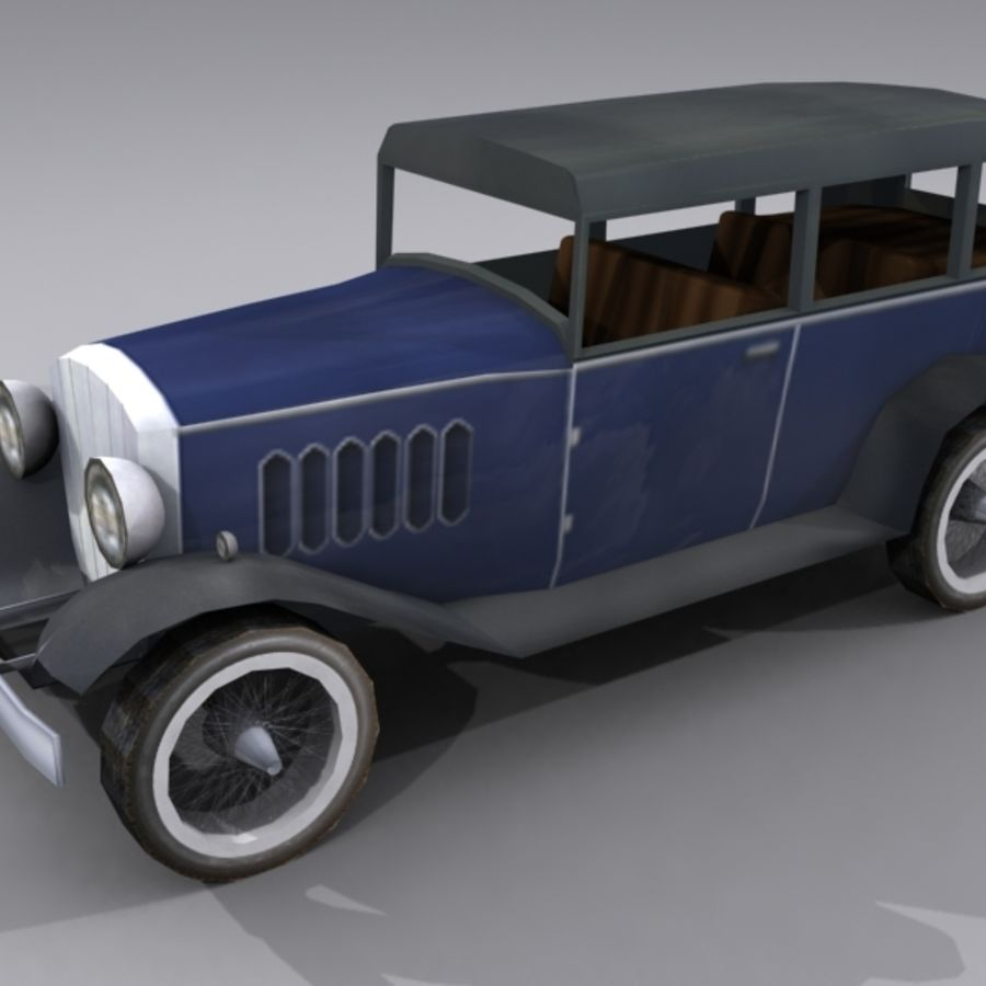 Cunningham Oldtimer 1929 royalty-free 3d model - Preview no. 2