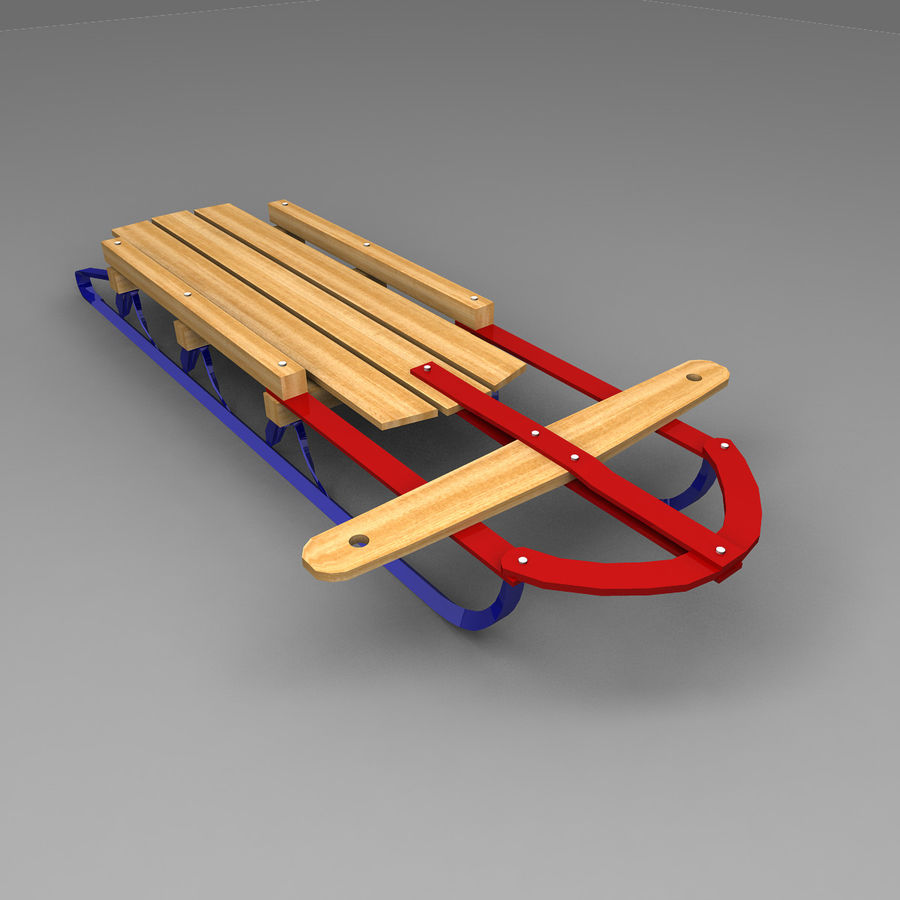 Sled royalty-free 3d model - Preview no. 1