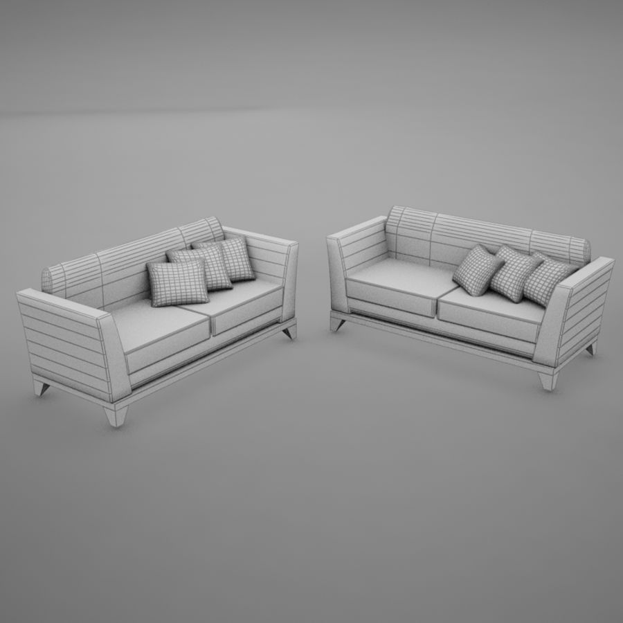 nowoczesny basen z sofą royalty-free 3d model - Preview no. 12