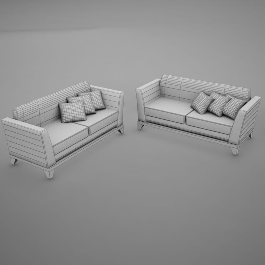 nowoczesny basen z sofą royalty-free 3d model - Preview no. 10