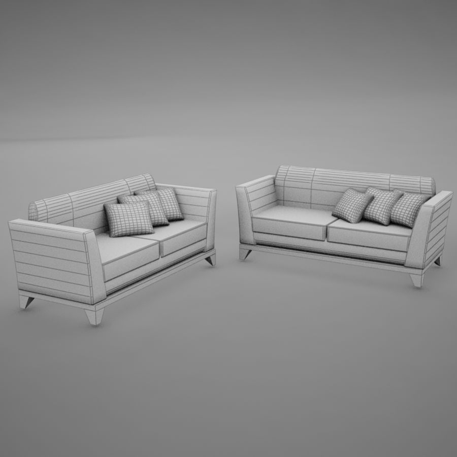 nowoczesny basen z sofą royalty-free 3d model - Preview no. 13