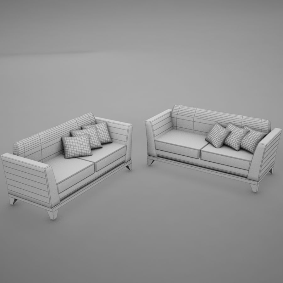 nowoczesny basen z sofą royalty-free 3d model - Preview no. 16