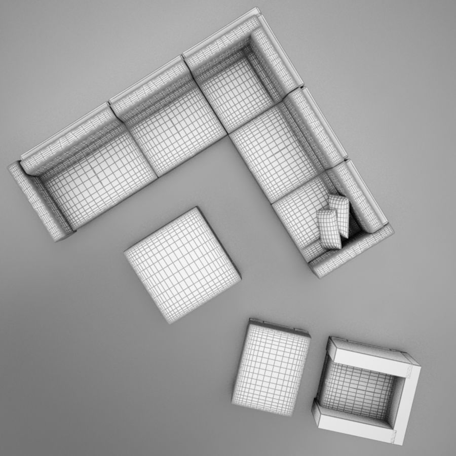 kanepe veranda 4 royalty-free 3d model - Preview no. 14
