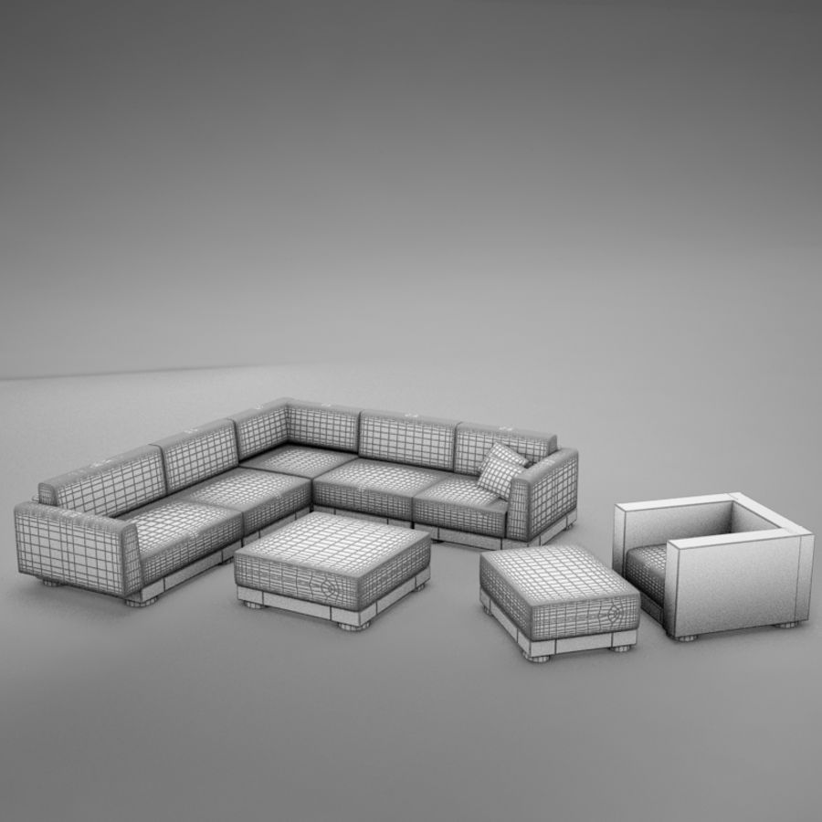 kanepe veranda 4 royalty-free 3d model - Preview no. 15