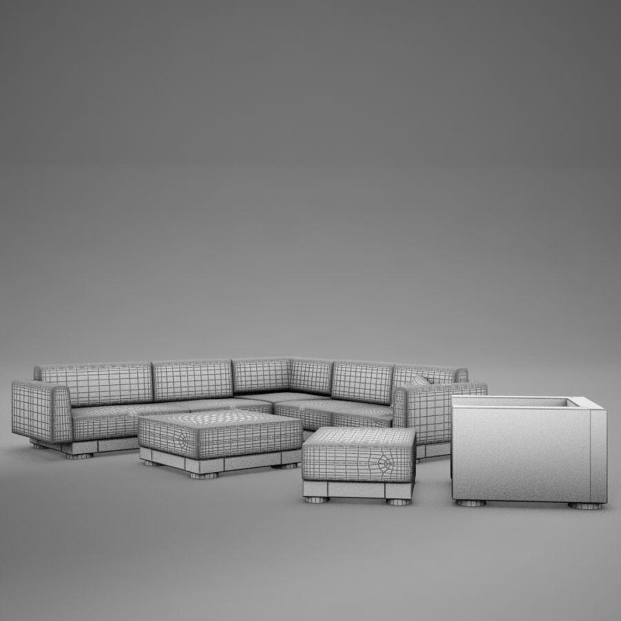 kanepe veranda 4 royalty-free 3d model - Preview no. 13