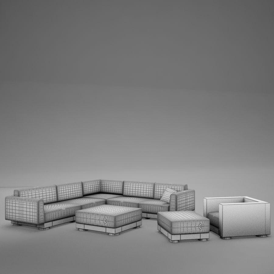 kanepe veranda 4 royalty-free 3d model - Preview no. 11