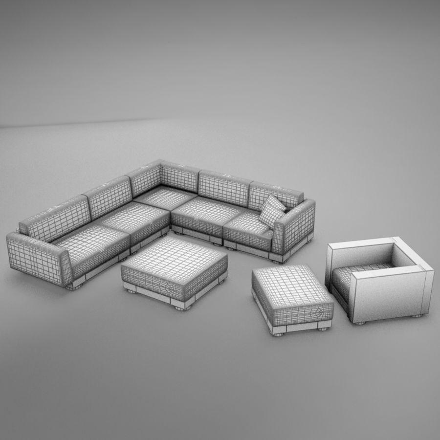 kanepe veranda 4 royalty-free 3d model - Preview no. 12