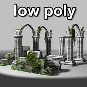 LowPoly Ancient Ruins 3d model