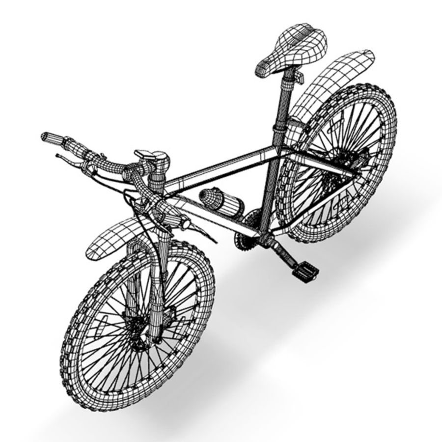 mountain bike royalty-free 3d model - Preview no. 8