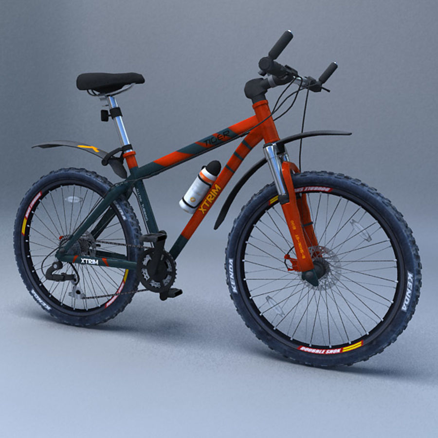 mountain bike royalty-free 3d model - Preview no. 7