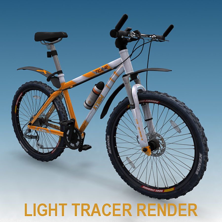 mountain bike royalty-free 3d model - Preview no. 10