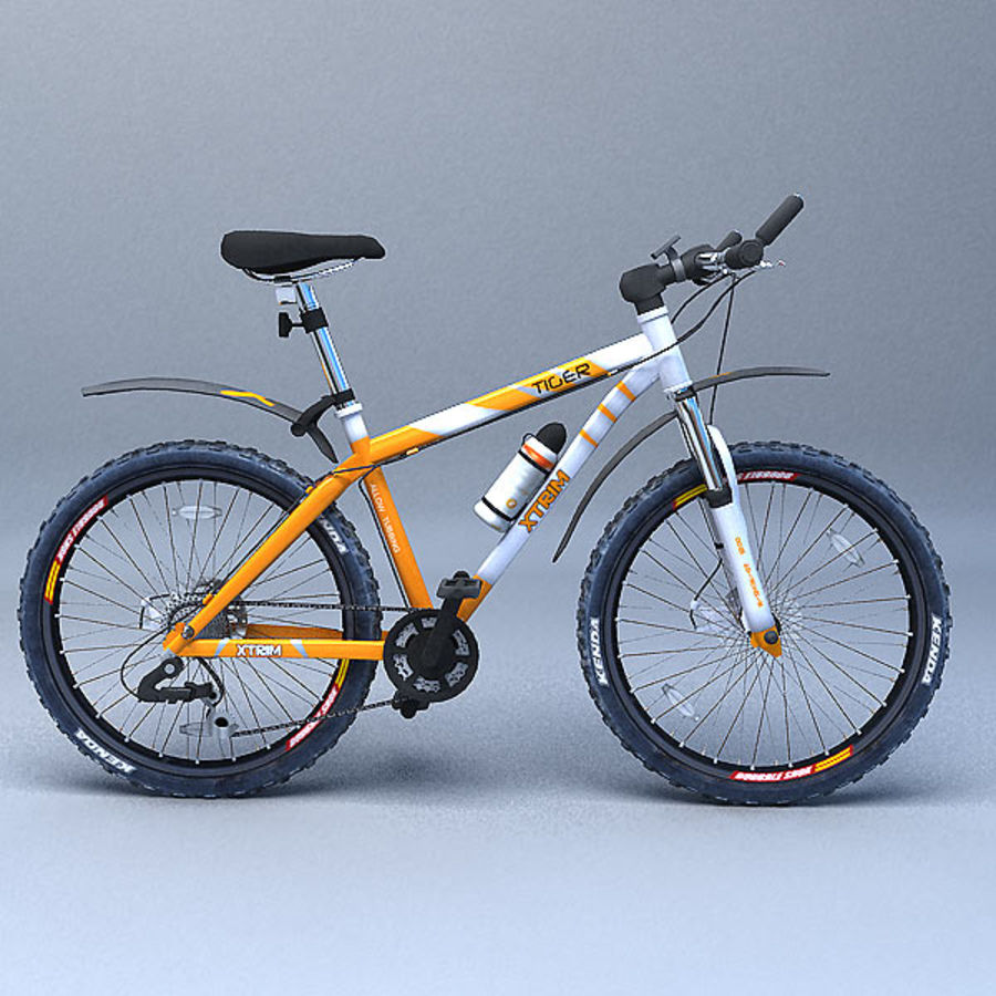 mountain bike royalty-free 3d model - Preview no. 2